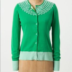 Tabitha Anthropologie Crossed Heart Cardigan